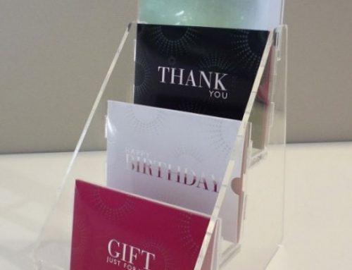 Countertop gift card display