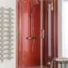 plexiglas hi gloss red shower splashback