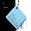 perspex sweet pastel colour chip candy floss blue