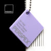 perspex sweet pastel colour chip parma violet