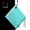 perspex sweet pastel colour chip spearmint green