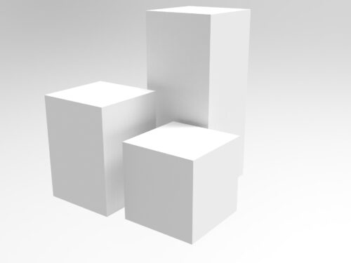 acrylic plinths for display -KF Plastics