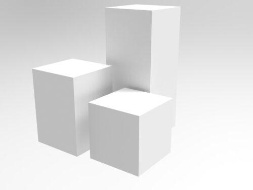 acrylic plinths for display -KF Plastics